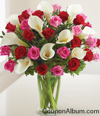 1800 Flower is offering 15% discount on birthday flowers and gifts.