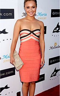 87a38ff5c0ca Posts similar to: Orange Herve Leger Hayden Panettiere Bandage Dress ...