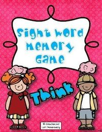 This sight word memory game will give your students plenty of practice learning those all important sight words. Included are kindergarten, first grade, and second grade Dolch words, plus, words frequently used in writing. A recording sheet is also includ...