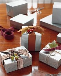 Silver Tissue Paper Use simple, inexpensive materials such as silver tissue paper, then transform gifts with special ribbons and items from your wrappings box.