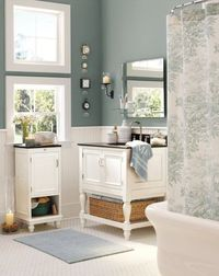 """Benjamin Moore Color """"alfresco"""" by Potttery Barn. A deep, dusty blue that promises to relax and calm:)"""