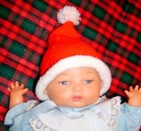 Spinning Sandy's Ditsy Drivel: Preemie Baby Santa Hat Knitting Pattern