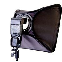 CowboyStudio Photo / Video 24in Large Speedlite Flash Softbox with L-Bracket, Shoe Mount & Carry Case