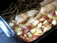 Chicken, Potato, and Green Bean One-Dish Dinner