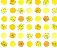 polka daffodils fabric by nonnie on Spoonflower - custom fabric