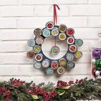 Advent Wreath with mini tins