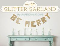 diy glittery holiday garland