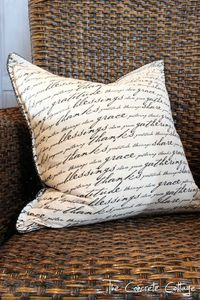 The Concrete Cottage: Pretty Napkins Make Even Prettier Pillows!