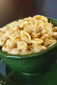Revolutionary Mac Cheese -- the pasta is cooked in the milk, which forms the base for the sauce. No water, no draining... 2 cup pasta, 2 cup milk, 1 cup cheese