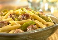 This simple skillet dish combines macand cheesewith sausage and peppers to make a family-favorite dish that's on the table in less than 45 minutes!