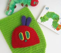 Crochet PATTERN Baby Cocoon Hat - Very Hungry Caterpillar Inspired - Infant to Adult PDF PATTERN p131. $6.99, via Etsy.