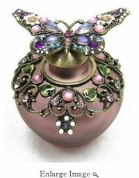 Jeweled and Enameled Butterfly Perfume Bottle