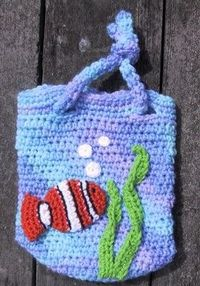 Seaside wavy bag. Great for the beach! free crochet pattern! I love it!