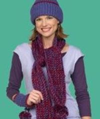 Crochet Scarf Hat and Wristlets
