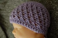 Newborn Crochet Beanie. Might need to learn how to do this. Also blog has many patterns FREE