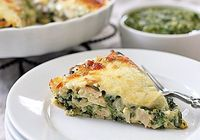 Chicken & Spinach Tortilla Pie