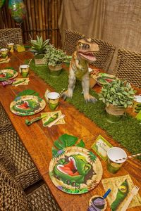 Dinosaur Roar 3rd Birthday Party: The Kids Dining Area awesome