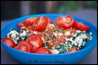 Spinach, tomato, garlic egg white scramble (add some goat cheese and tone down the portion size a bit from this recipe)