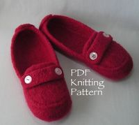 Knitting Pattern PDF Women's Felted Moc by lavenderhillknits, $6.95
