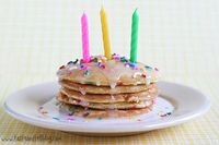 birthday cake pancake