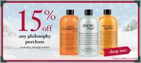 Philosophy.com is currently treating beauty-obsessed with sweet savings of 15% on any order with minimal exclusions.