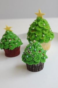 How To Cupcakes, Christmas Cupcakes,
