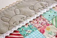 such a cute ide for the border of baby quilt.