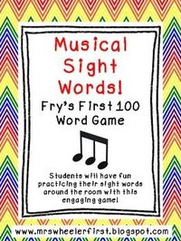 Musical Sight Words: Fry's First 100 Word Game $3