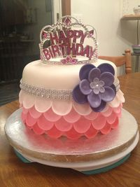 Birthday Cake Photos - My first attempt at a petal cake. Made for a Doctor I work for his daughters 5th birthday.