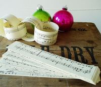 Paper Chain Vintage Sheet Music