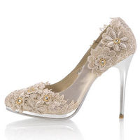 lacey flower shoe