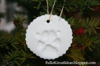 Full of Great Ideas: Your Dog's Paw Print Ornament