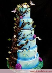 cakes Enchanted Forest wedding cake