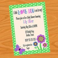 Love Bug Baby Shower Invitation DIY Printable by DecorableDesigns, $5.00