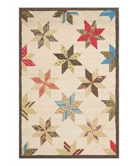 Methinks I have seen this pattern a lot lately - ahem. Take a look at this Bone White Lemoyne Star Hand-Tufted Rug by Martha Stewart Rugs by Safavieh on #zulily today!