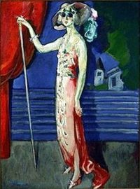 "Kees van Dongen 			Dutch 	1877 - 1968 	""At the Folies Bergeres"""