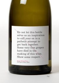 Hilarious wine label.