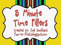 So who can't use ideas to fill 5 minutes in a classroom?? great transition/time fillers!