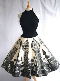 Vintage Dress With Moroccan Print