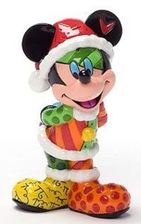 Mickey Mouse - Christmas Mickey Mini - Romero Britto - World-Wide-Art.com - $29.00 #Disney #Britto #Mickey #Christmas #Holidays