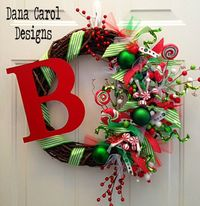 Christmas In Candyland Wreath