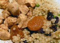 Moroccan-Spiced Chicken + Apricot Couscous