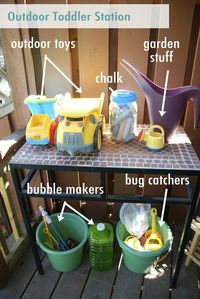 outdoor kid toy station
