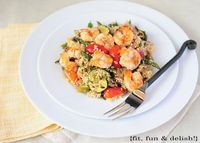Fit, Fun & Delish!: Grilled Vegetable Couscous with Grilled Shrimp
