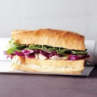 How to use up leftover chicken: Asian Chicken Sandwich