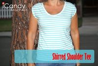Shirred Shoulder Tee