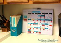 Magnetic menu planning board. Printables are available!