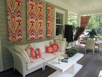 fabric panels for outdoor art . . .