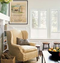 Vintage farmhouse style living room