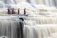 Monks and water...